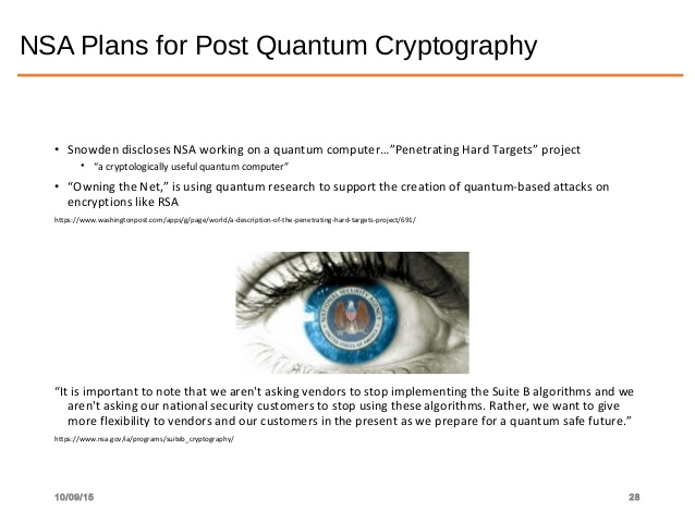Industry start preparing for Quantum proof Cryptography as